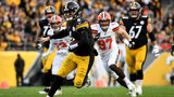 PITTSBURGH, PA - DECEMBER 01: Devlin Hodges #6 of the Pittsburgh Steelers carries the ball in the third quarter during the game against the Cleveland Browns at Heinz Field on December 1, 2019. (Photo by Justin Berl/Getty Images)