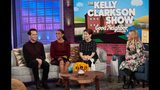 """THE KELLY CLARKSON SHOW -- """"Episode 3068"""" -- Pictured: (l-r) Matthew Rhys, Susan Kelechi Watson, Marielle Heller, Kelly Clarkson-- (Photo by: Adam Christopher/NBCUniversal)"""