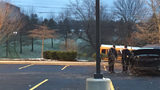 Man dies when SUV crosses major North Hills road, crashes into church parking lot